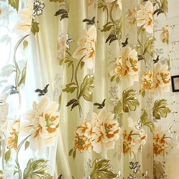Bedroom curtains for living room Modern curtains for kitchen Floral print see through window curtains Fabric Tulle Sheer Curtain