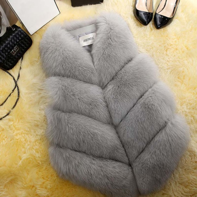 2020 New Fashion Fur Coat Women Plus Size Faux Fur Gilet Waistcoat Winter Thick Warm Outerwear Fur Gilet Overcoat Jacket Female