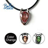 Bolai jewelry, Zultanite pendant diaspore pear 10*15mm 925 sterling silver Create beautiful everyday accessories for women