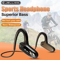Jellico 핸즈프리 무선 스포츠 러닝 헤드폰 에어 뼈 전도 HD 스테레오 방수 핸즈프리 이어폰