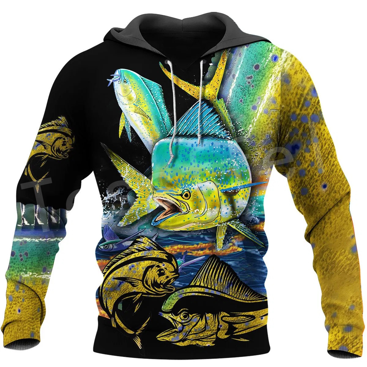 Tessffel New Fashion Animal Camo Bass Fishing Fisher Tracksuit Harajuku Unisex 3DPrinted Zipper/Hoodies/Sweatshirts/Jacket s-16