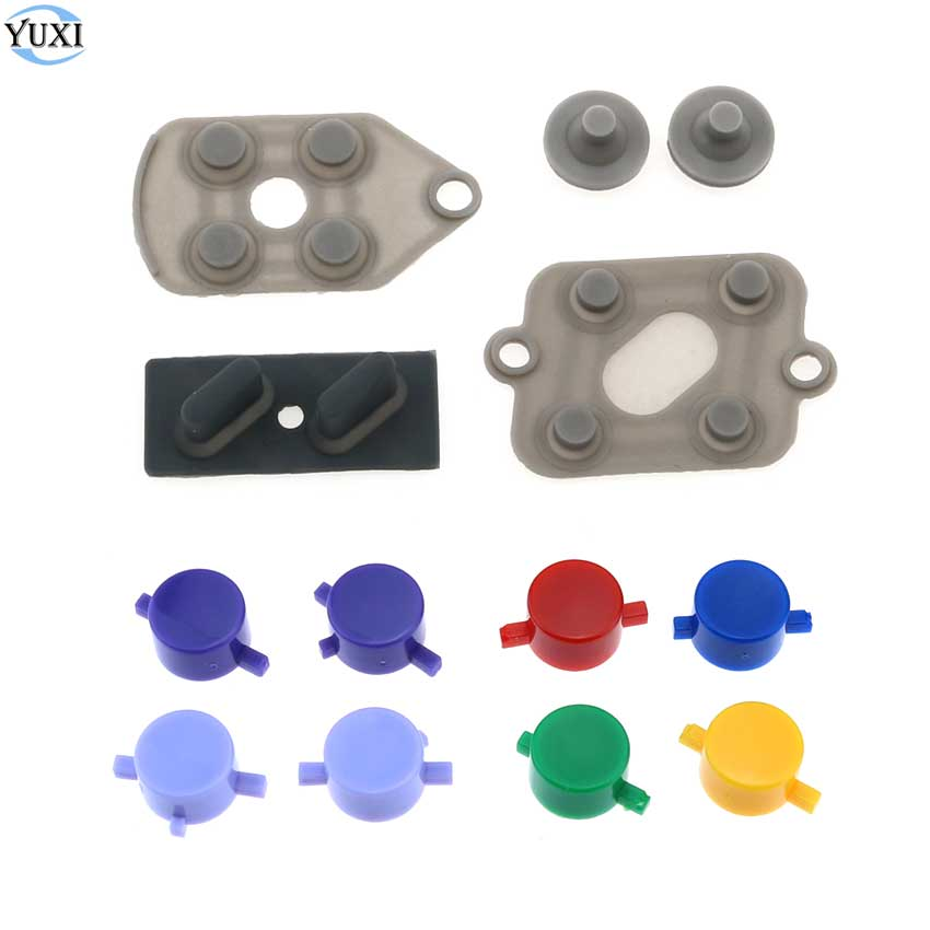 YuXi For Nintend SNES Replacement Conduction Conductive Rubber Button Contact A B D-Pad + Plastic Buttons A B X Y For SFC
