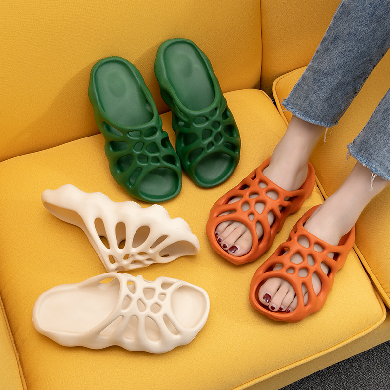 Cut-out Platform Slippers