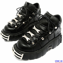 Women Sneakers Platform-Shoes Tenis Creepers Metal-Decor Casual Flats Punk-Style Lace-Up