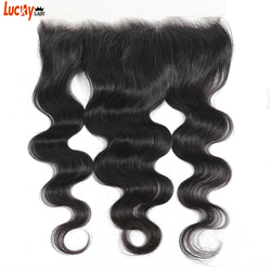 14-24 Inch HD Transparant Lace Frontal Brazilian HD Body Wave Frontal Closure 100% Human Hair Remy Can Be Bleached And Dyed
