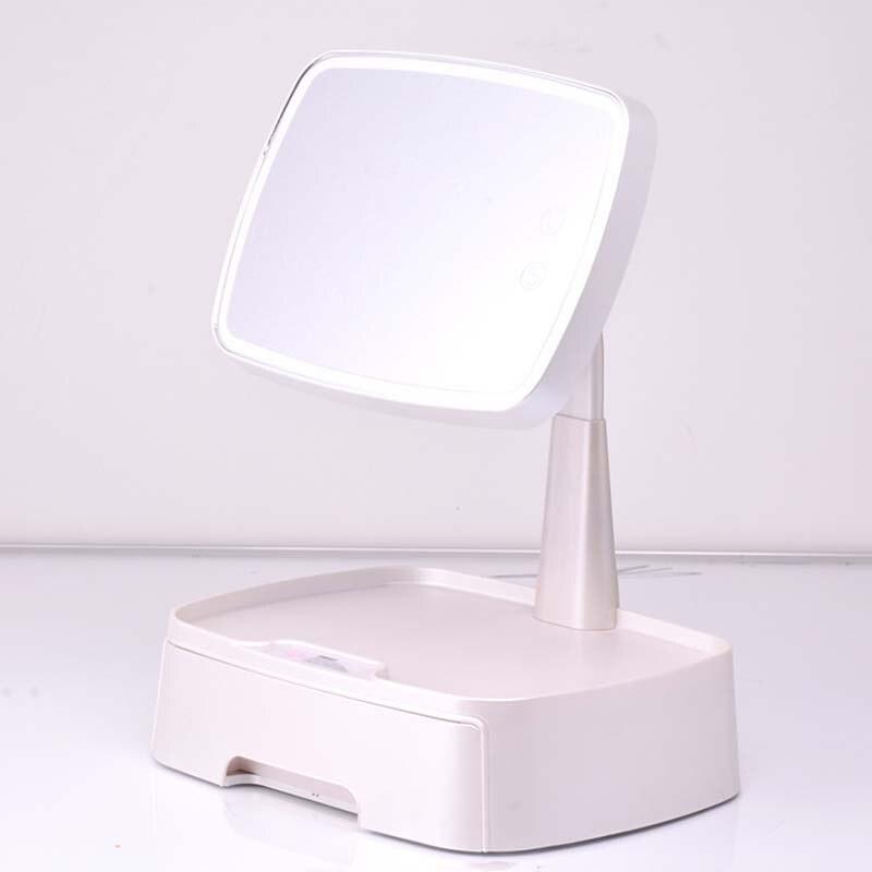 armazenamento desktop espelho de maquiagem multi-função de