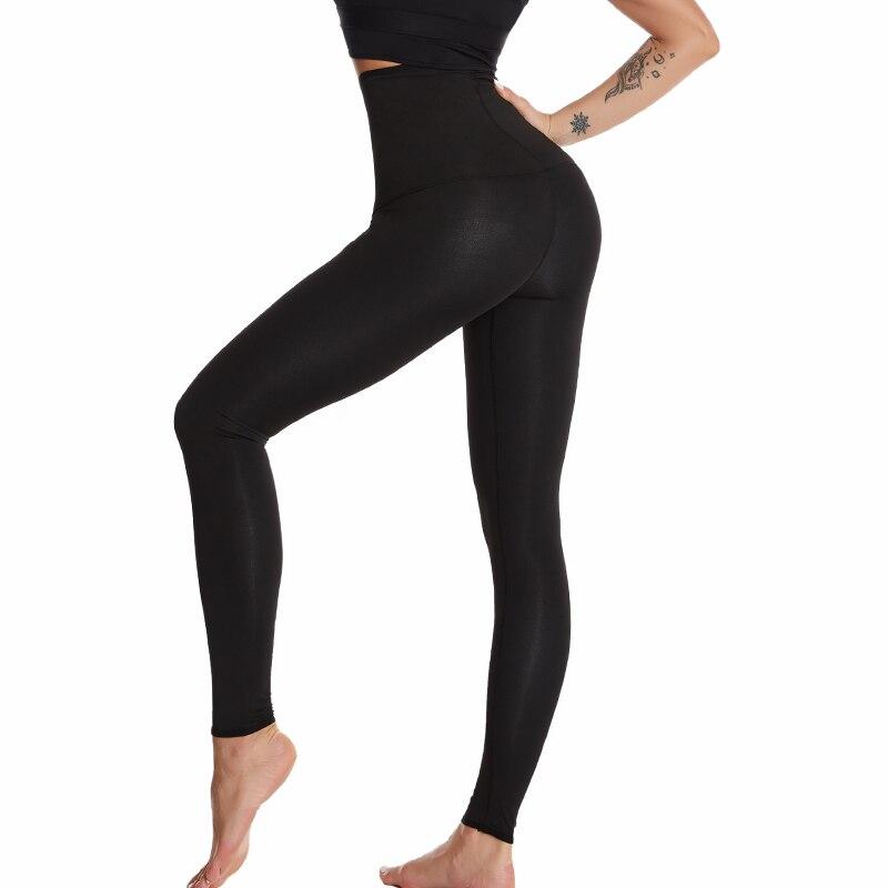 Pantaloni Body Shaper Sauna Shapers sudore caldo effetto Sauna pantaloni dimagranti Shapewear allenamento palestra Leggings Fitness pantaloni a vita alta 2