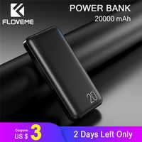 FLOVEME 20000mAh Powerbank Accumulatori e caricabatterie di riserva Per Xiao mi batteria Esterna Portatile Del caricatore Doppio USB mi Poverbank Bateria Externa Movil