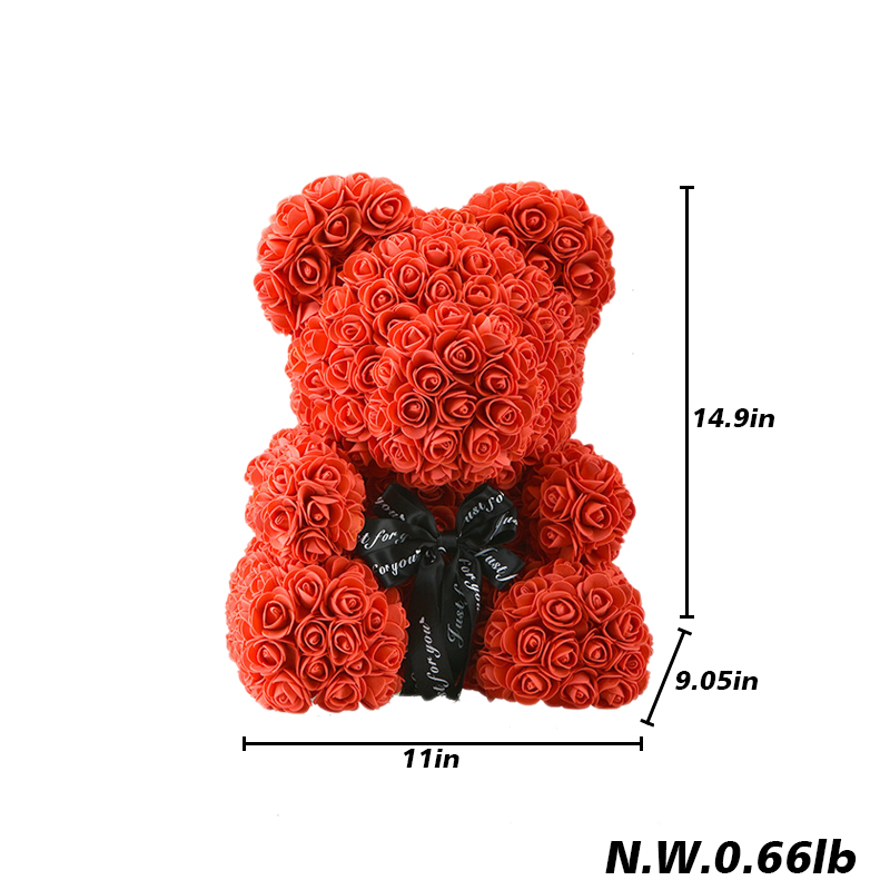 Image 5 - 2019 Wholesale Cheap 40cm Red Bear Rose Teddy Bear Rose Flower Artificial Decoration Christmas Gifts for Women Valentines Gift-in Artificial & Dried Flowers from Home & Garden