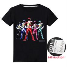 Meninos power ranger meninas t camisas traje roupas do menino coelhos roupas camiseta de manga curta t tops crianças crianças t