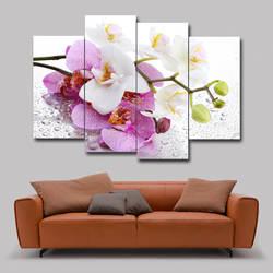 4-бескаркасный фон для гостиной вешается на стену высокой четкости растение цветы Орхидея Лилия декоративная живопись