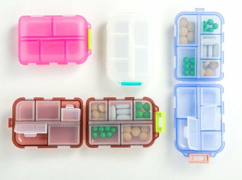 Portable Medicine Drug Pill Box Storage Case Container Weekly Sort Folding Vitamin Pill Box Medicine Organizer New