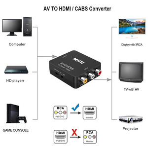 Image 2 - RCA To HDMI AV To HDMI GANA 1080P Mini RCA Composite CVBS AV To HDMI Video Audio Converter Adapter Compatible PAL NTSC SECAM M N