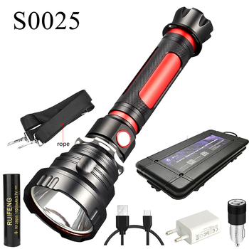 CREE T40 Super Bright LED Flashlight Waterproof Torch Light with Large Capacity 26650 Battery for Outdoor Cycling Camping Lamp new arrivals multifunction waterproof adjustable cree led flashlight telescope for hiking camping climbing with 16340 battery