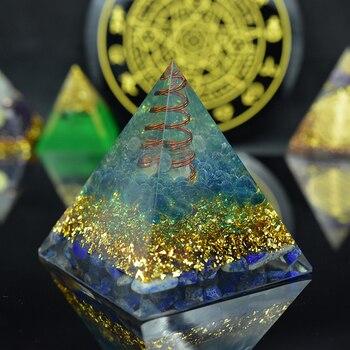 Elite Aura Crystal Orgone Pyramid Natural Stone Crystal Lapis Lazuli Orgonite Emf Protection For Chakra Healing Energy Generator
