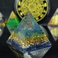 Elite aura pirâmide de cristal natural, pedra natural de cristal lápis-lápis, orgonita, emf, proteção para chakra, gerador de energia de cura