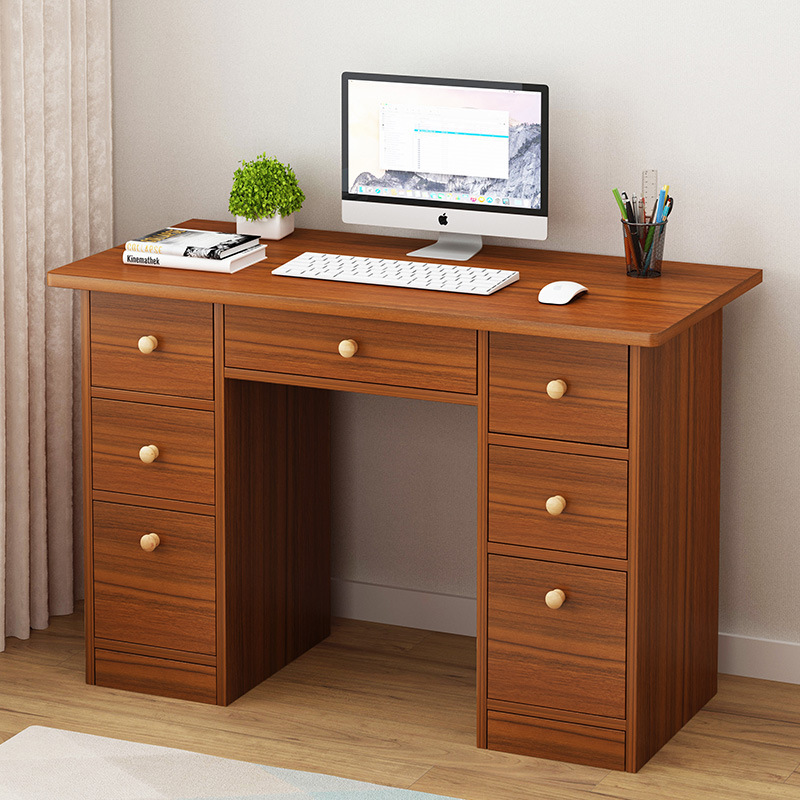 Простой офисный стол Бытовая имитация дерева минималистичный современный книжный стол спальня для одного человека для студентов домашняя
