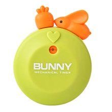 Rabbit timer lastic magnet on the back cute and attractive cooking time reminder mechanical pointer 1 set adrien lastic geisha lastic ball s светло розовые вагинальные шарики на сцепке