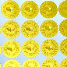 Stati Uniti di America Adesivi Ologramma in 20 Millimetri Oro Argento Nuovo Disegno Olografico di Sicurezza Adesivi Vuoto Dopo La Rimozione