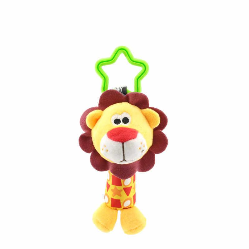1 pc bebê crianças bearoom chocalho brinquedos dos desenhos animados animal de pelúcia mão sino carrinho de bebê berço pendurado chocalhos brinquedos cama infantil pendurado presente