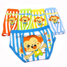 5pcs/lot 4Y-14Y Boys Underwear Cute Panties Baby Kids Boxer Briefs Girls Cartoon monkey panty Children clothes Boy Underpant(China)