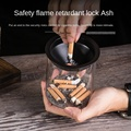 Ashtray creative stainless steel household fly ash prevention living room office personality trend ashtray glass ins wind