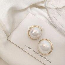 Pendientes de perlas de imitación Vintage 2019, pendientes para mujer, accesorios para mujer, pendientes de moda Simple redondo geométrico, joyería