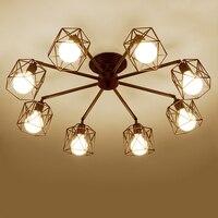 Europeu de metal país da américa lâmpada do teto sala estar quarto estudo criativo moderno e minimalista retro luminárias