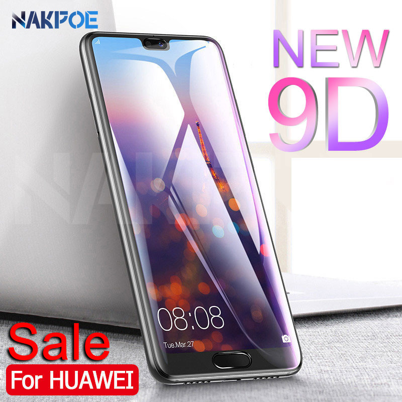 9D Full Cover Tempered Glass On The For Huawei P20 Pro P10 P9 Lite Plus Screen Protector Huawei P Smart Protective Glass Film