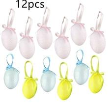 Festival-Decor Toys Decorative-Eggs Party-Supplies DIY Printed Colorful Kids 12pcs/Set