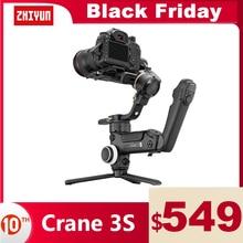 ZHIYUN Crane 3S 공식 크레인 3S/SE 3 축 짐벌 핸드 헬드 안정기 지원 니콘 캐논에 대한 6.5KG DSLR 카메라 캠코더 비디오 카메라
