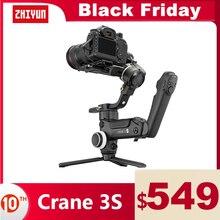 ZHIYUN  Crane 3S , grúa oficial 3S/SE, 3 ejes, cardán estabilizador de mano, soporte 6,5 KG, cámara DSLR, videocámara, cámaras de vídeo para Nikon Canon