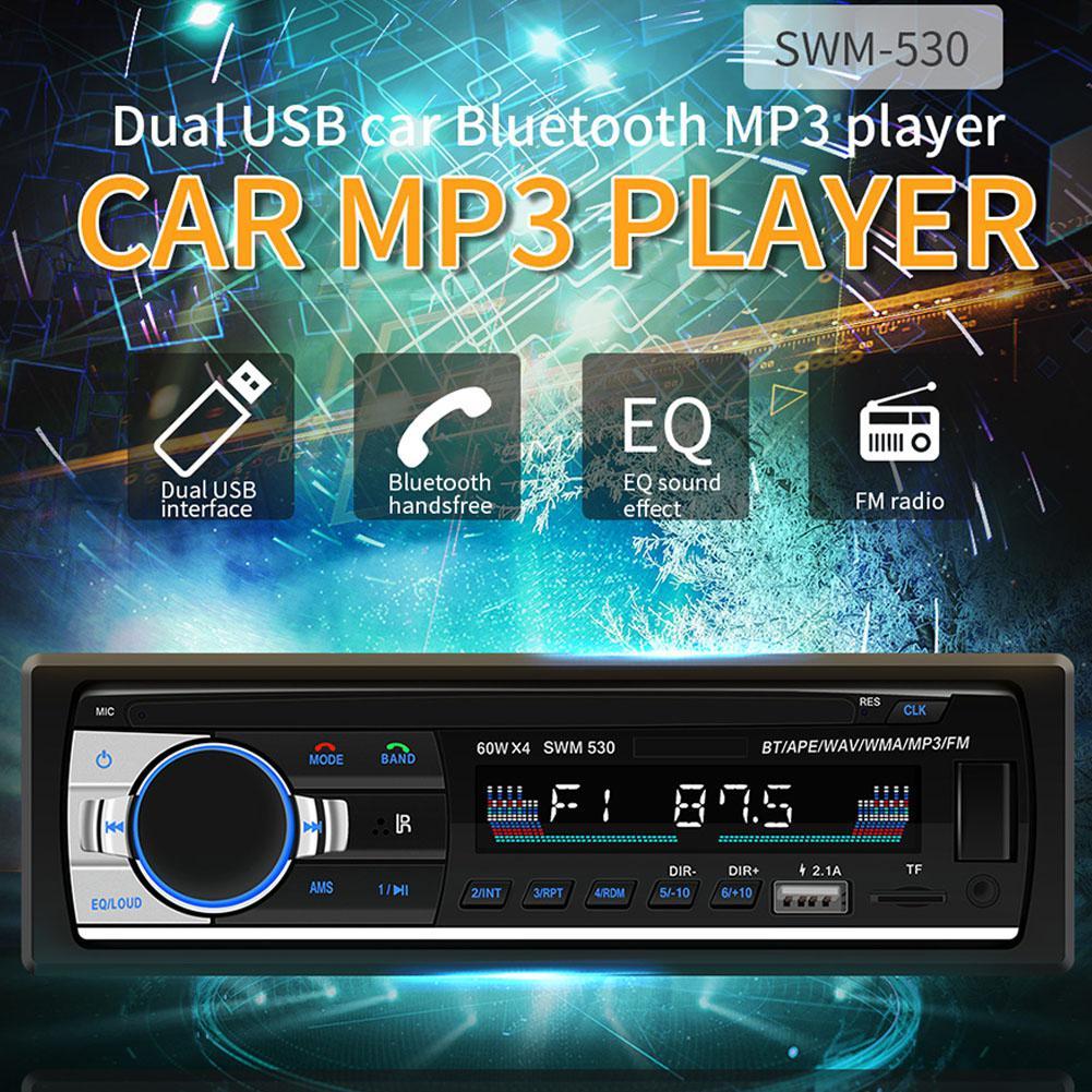 Bluetooth Car Audio Stereo 60WX4 Car Radio 12V In-dash 1 Din FM Aux Input Receiver USB MP3 MMC WMA Car Radio Mp3 Player