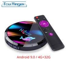 TouYinger – boîtier TV H96 MAX X3, Android 9.0, Amlogic S905X3, 4 go 32 go, 2.4G, 5G, Wifi, Bluetooth, 1000M, usb AV SPDIF jusqu'à 8K