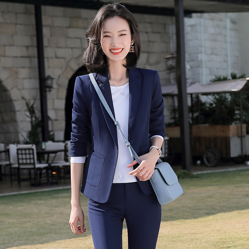 2020 Female Office Work Formal Pant Suits Women's Suit Business Lady Uniform 2 Piece Set Blazer Trouser Jacket Suits Plus Size