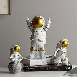 Astronaut Spaceman Creative Statue Car Decor Art Crafts Figurine Abstract Sculpture Home Office Desktop Decoration Ornament Gift