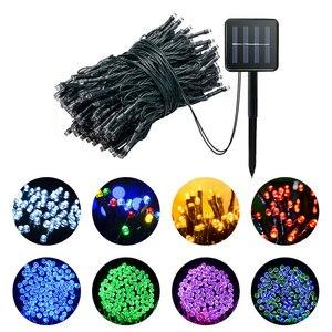 Binval 50/100/200 светодиодов Солнечная гирлянда, сказочные огни, водонепроницаемые для наружного освещения, сада, свадьбы, рождественской вечерин...