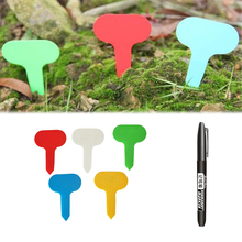 Labels Stake Gardening-Accessories T-Type-Plant-Markers Waterproof-Tags Nursery 100PCS