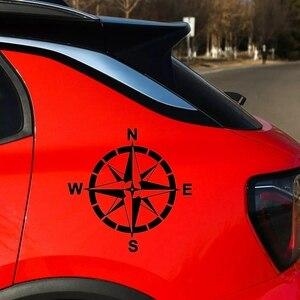 Image 2 - CK20331 # Sterben Cut Vinyl Aufkleber Wind Rose Auto Aufkleber Wasserdicht Auto Dekore auf Auto Körper Stoßstange Hinten Fenster