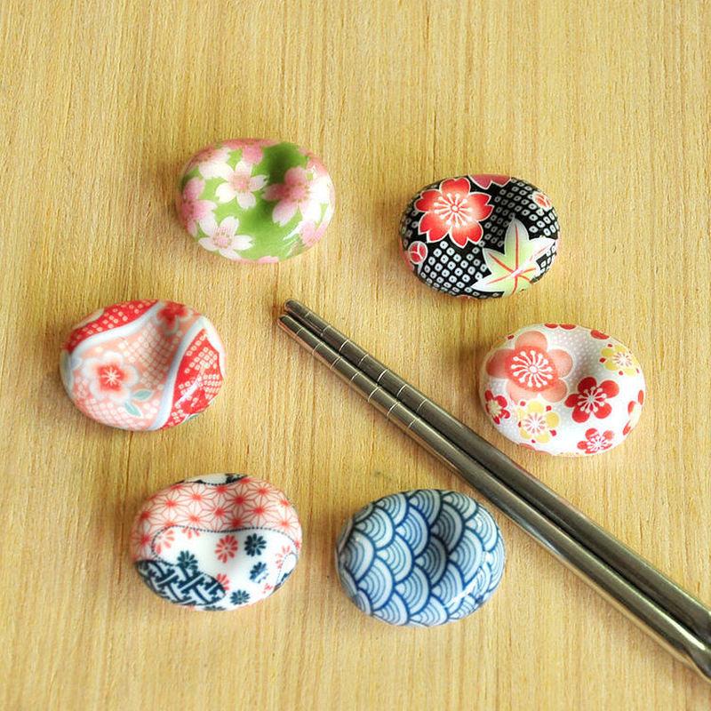 Cute Tableware 6 Styles Japanese Fork Rack Ceramic Spoon Chopsticks Holder