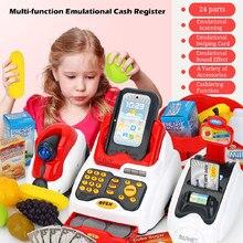 Learning Educational Cassiere Bambini Giochi Di Imitazione Regalo Contatore Registratore di cassa Giocattolo In Miniatura Simulato Modello Supermercato Casa Ruolo