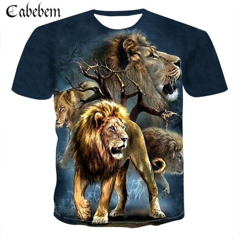 Sommer männer T-Shirt Lion 3D männer T-Shirt Mode Tier Druck T-Shirt männer/frauen T-Shirt Kühlen beiläufige Asiatische Größe 6XL