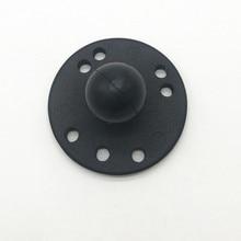 Base redonda 1 montagem da bola da polegada com o trabalho do teste padrão do furo dos ampères para o smartphone de gps das câmeras