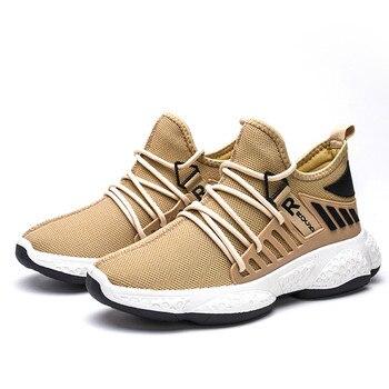 Nuevos zapatos informales de primavera y otoño para hombre, cómodos zapatos de malla a la moda con cordones para hombre y adulto