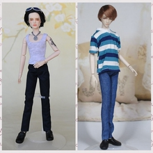 1/6 Doll Clothes Denim Jeans Pants For Ken Boy Doll Trousers For Barbie's Boyfriend Ken Prince Male Doll Casual Accessories