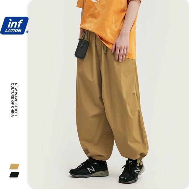 INFLATION Men Hip Hop Baggy Harem Pants 2020 SS Collection Jogger Streetwear Men Harem Pants Windbreaker Men Baggy Pants 3016S20 37