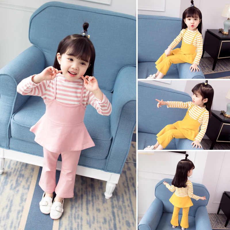 女の子秋の服 2019 新スタイルセット春と秋韓国スタイル幼児小さな子供 0 女の赤ちゃん 1 -2-3 歳の infl