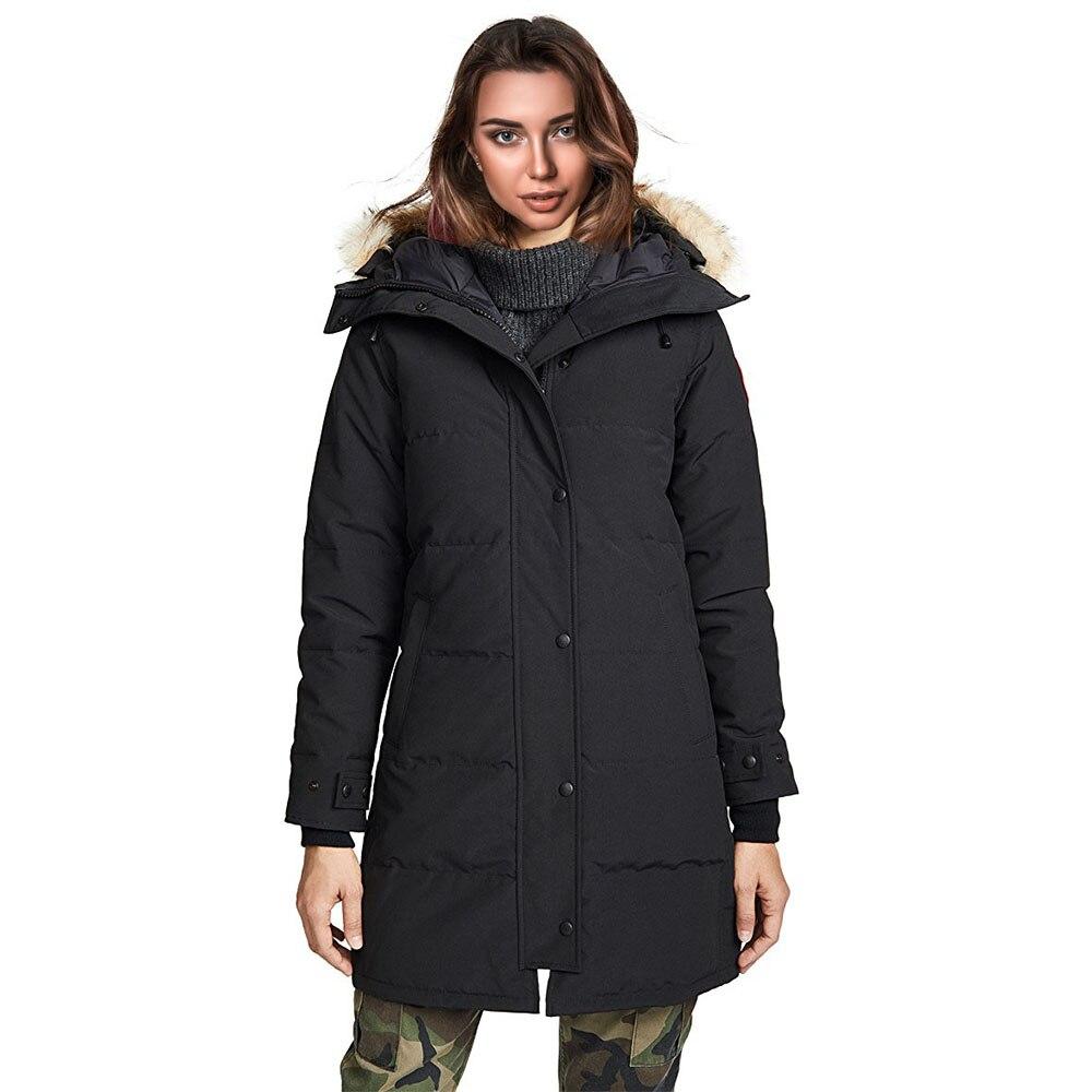 2019 Woman Down Long Parka Jacket Winter Warm Ladies Coat Female Duck Goose Parka Hooded Windbreaker Outwear Thick Parkas