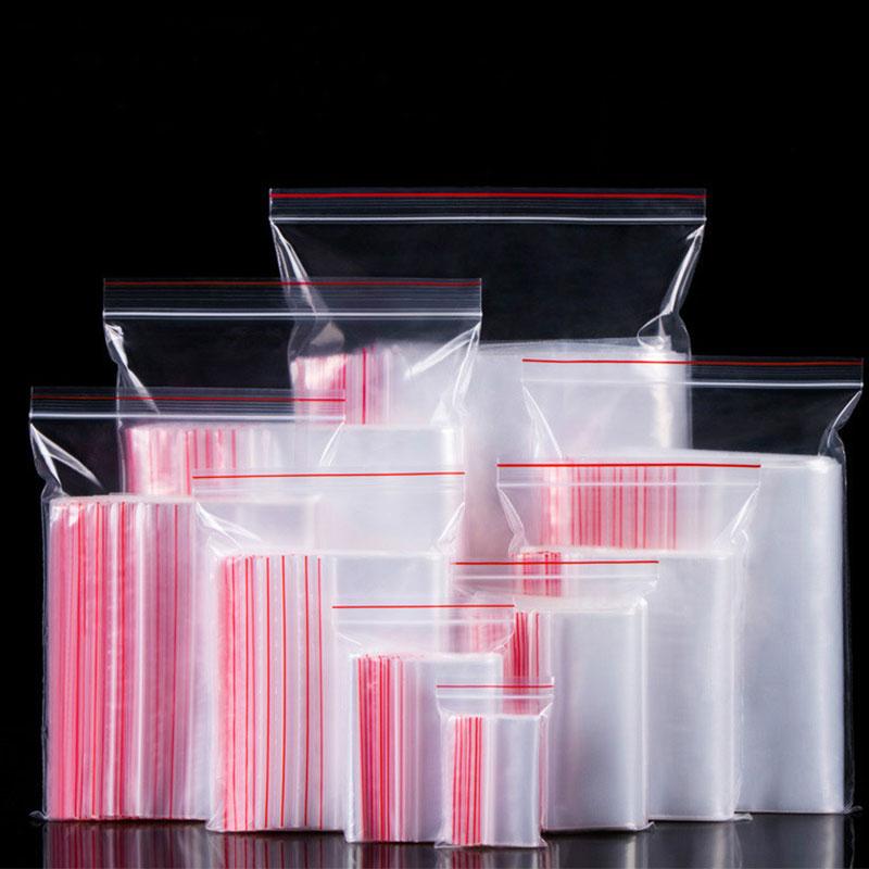 reutilizables para sellar alimentos a prueba de polvo 4x6cm transparente 100 bolsas de pl/ástico con cierre de cremallera para joyas