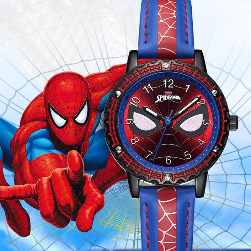 Children  Wrist Watch Boy Pupil Waterproof  Cartoon  Loveliness Arch Culverts  Spider-man Children's Watches